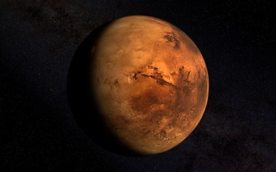 Wallpaper Mars, space, planet, stars