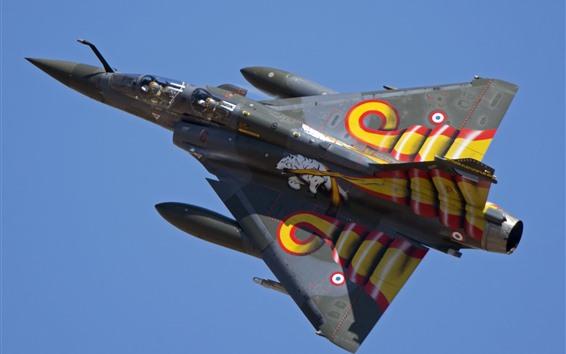 Wallpaper Multipurpose fighter, Dassault Mirage 2000D, sky