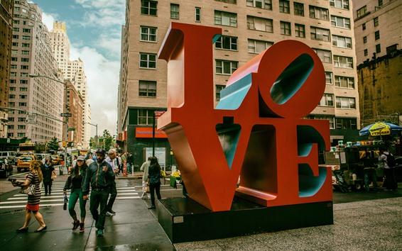 Fond d'écran New York City, Amour, Manhattan, États-Unis