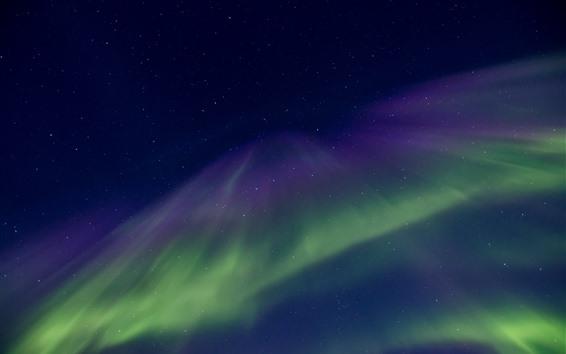 Fond d'écran Lumières nordiques, étoiles, beau ciel, nuit