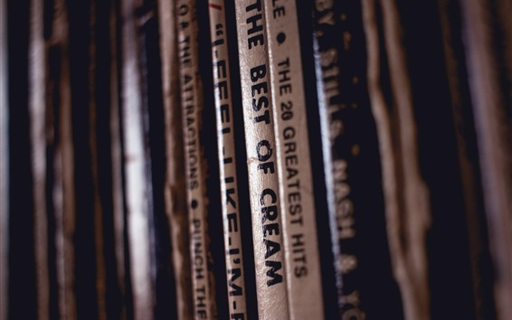壁紙 レコードコレクション、タイトル