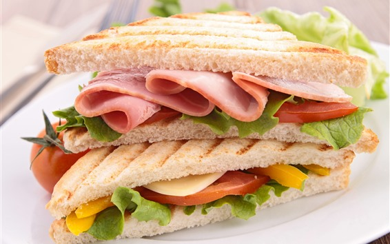 壁紙 サンドイッチ、食品
