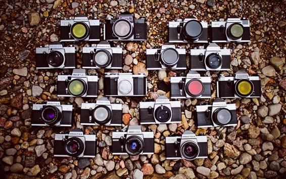 壁紙 いくつかのカメラ、石