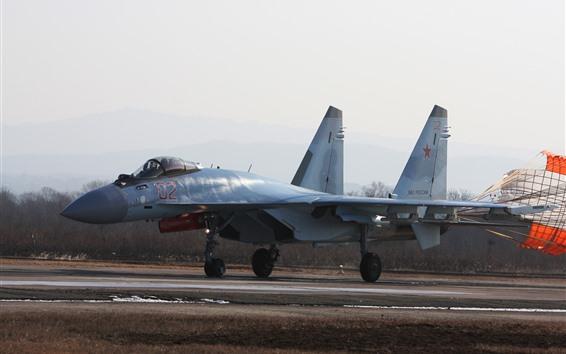 桌布 Su-35多用途戰鬥機,降落傘