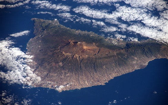 Wallpaper Tenerife, island, view from space