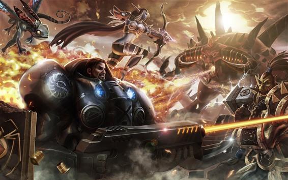 壁紙 ウォークラフト、嵐の英雄、戦士、戦争