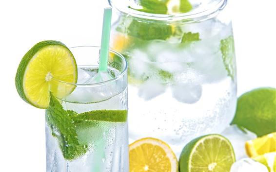 Fond d'écran limonade, glaçon, boissons, chaux