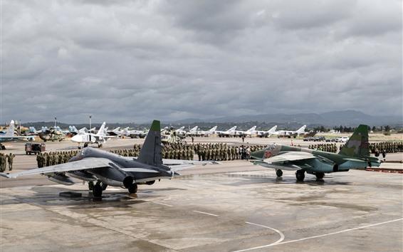 Fondos de pantalla Aeropuerto, Ejército, Aviones, Helicópteros, Luchadores.