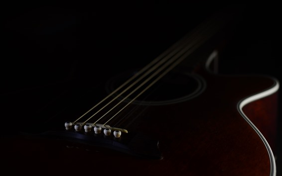 Fondos de pantalla Guitarra, oscuridad