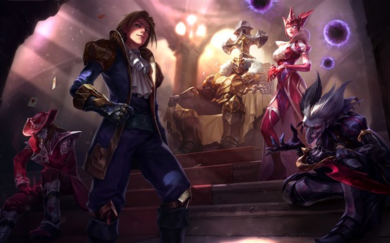 Hintergrundbilder League of Legends, Game Art Bild