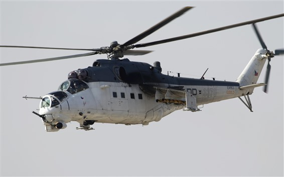 Wallpaper Mi-24 helicopter