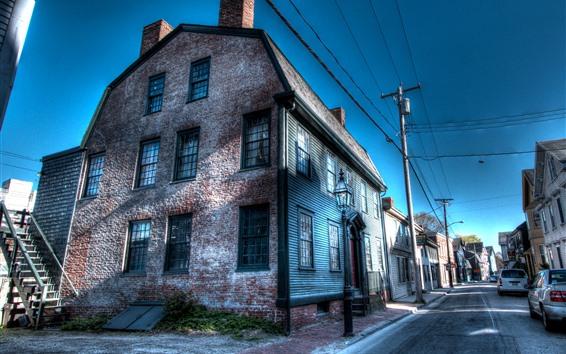 壁紙 ニューポート、ストリート、ワイヤー、車、アメリカ合衆国