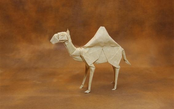 壁紙 紙キャメル、折り紙