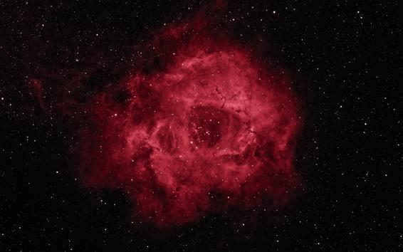 Papéis de Parede Rosette nebulosa, espaço, estrelas, estilo vermelho