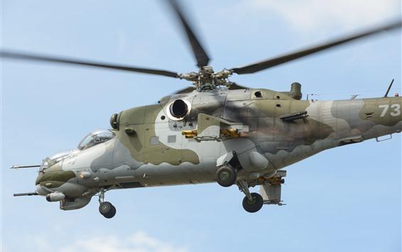 Wallpaper Mi-24V helicopter
