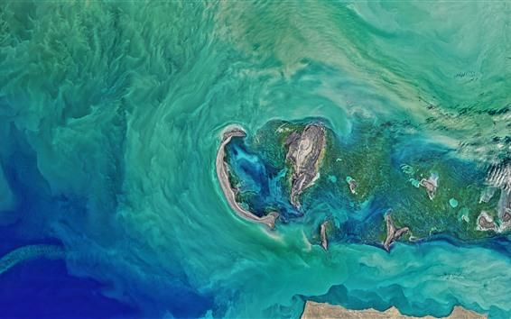Wallpaper NASA, satellite photography, sea, earth