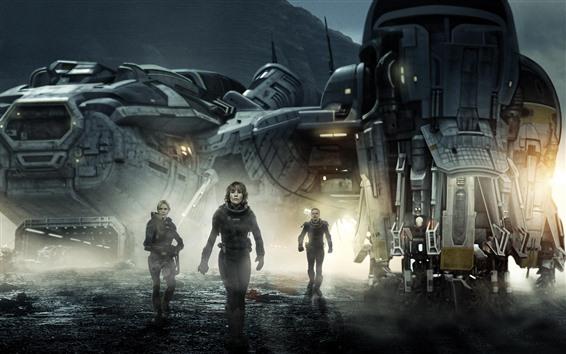 Wallpaper Prometheus, sci-fi movie
