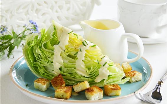 Papéis de Parede Salada de legumes, biscoitos, molho, comida