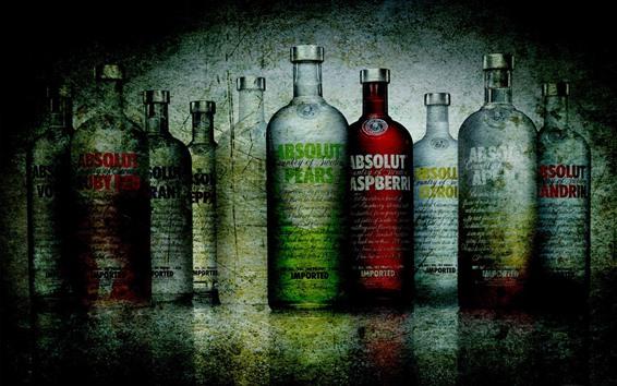 Fond d'écran Vodka, bouteilles, colorées