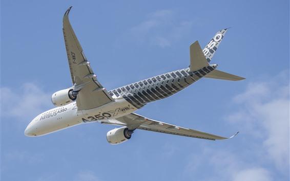 Wallpaper Airbus A350 plane, flight, sky