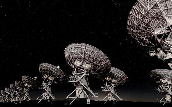 Wallpaper Antenna, night, stars, sky