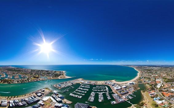 Papéis de Parede Austrália, Mandurah, Bay, Costa, Barcos