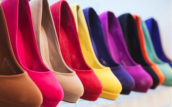 Wallpaper Different colors heels