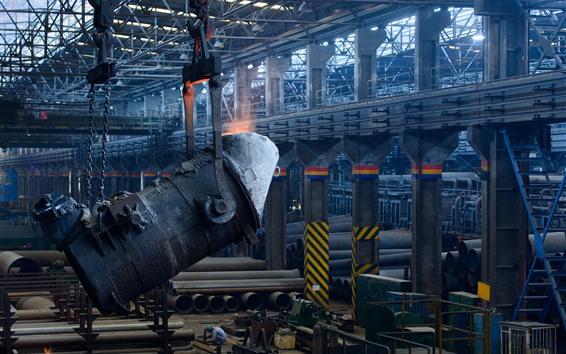 Wallpaper Molten metal, casting, factory