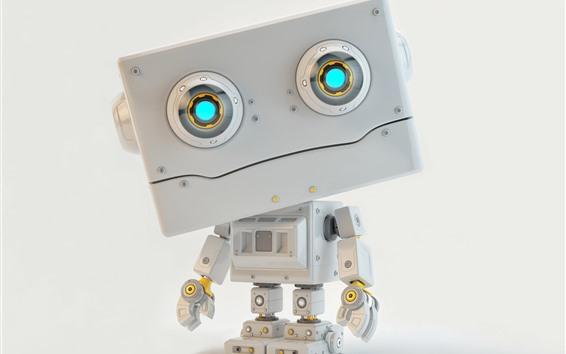 Wallpaper Robot, 3D design picture