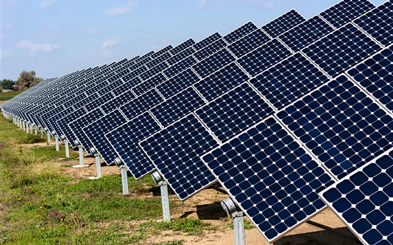Wallpaper Solar panels