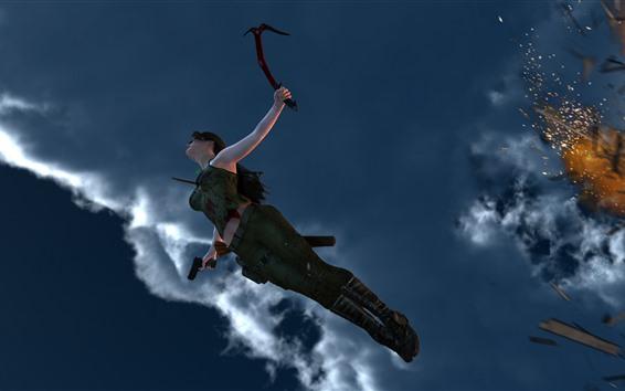 Fondos de pantalla Tomb Raider, Lara Croft, saltando