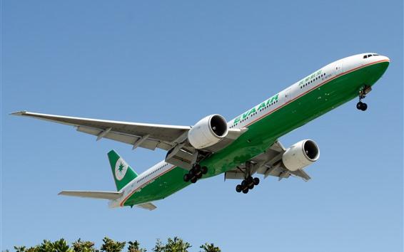 Fondos de pantalla Avión de pasajeros Boeing, aterrizaje, cielo