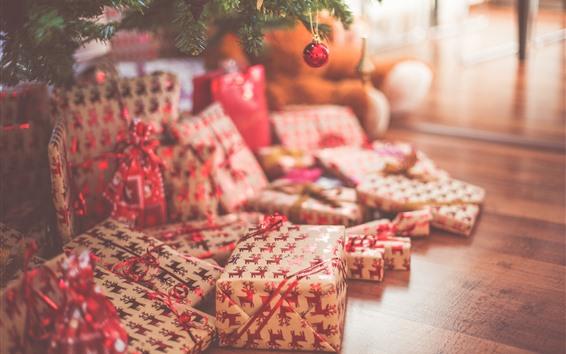 Wallpaper Christmas, gift, hazy
