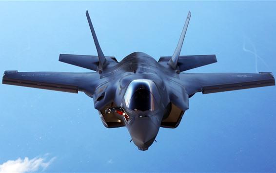 Обои Бомбардировщик F-35B Lockheed Martin, вид спереди