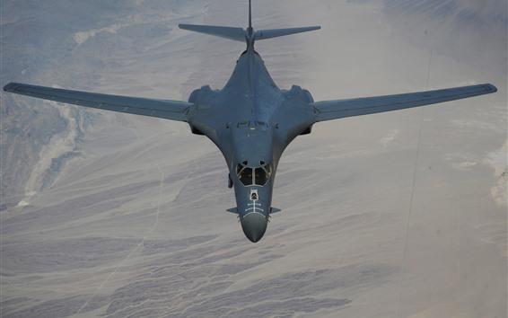Wallpaper Lancer B-1B bomber, supersonic, wings, flight