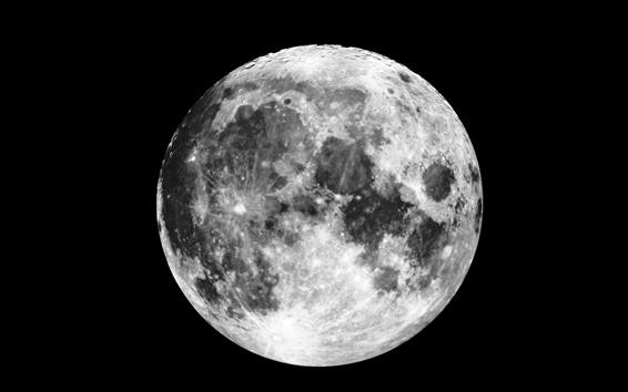 Fond d'écran Lune, surface, espace, fond noir