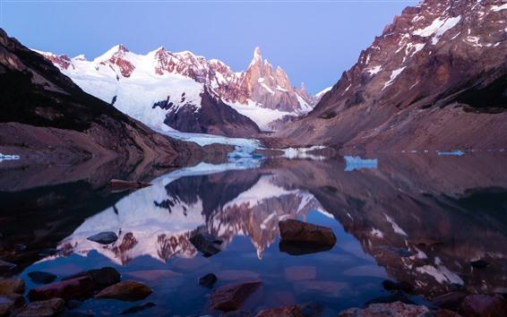 Papéis de Parede Patagônia, Argentina, Lago, Neve, Montanhas, Los Glaciares National Park