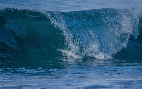 Wallpaper Sea waves, water droplets, splash