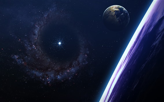 Wallpaper Stars, earth, galaxy, shine, space