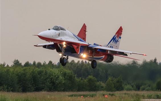 Wallpaper MiG-29 multipurpose fighter take off