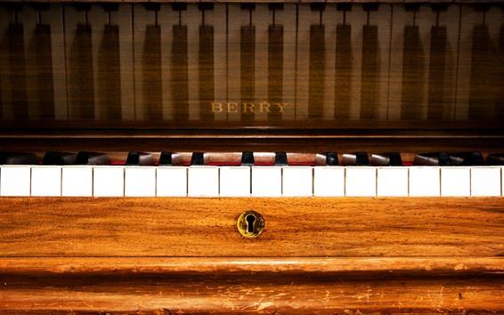 Papéis de Parede Piano, música, chaves, fotografia macro