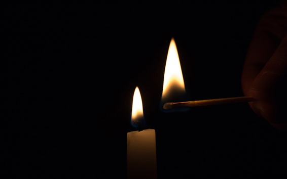 Hintergrundbilder Kerze, Feuer, Flamme, Match, hell