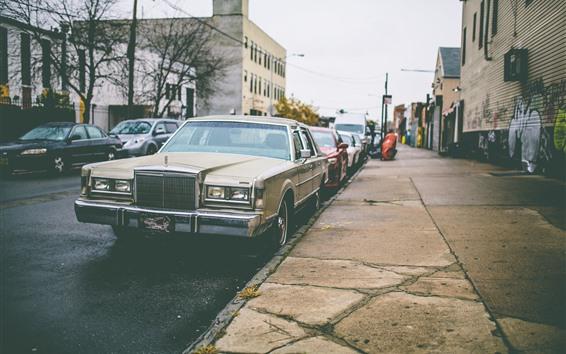 Wallpaper Cars, road, city, houses