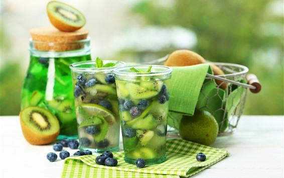 Wallpaper Cocktail, lemonade, drinks, cups, lime, berries
