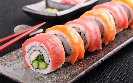 壁紙 日本食、寿司ロール