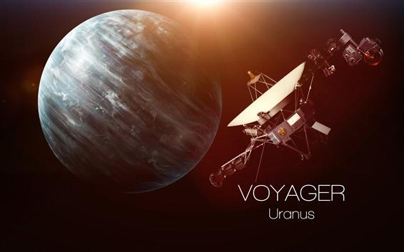 Hintergrundbilder Uranus, Satellit, Universum