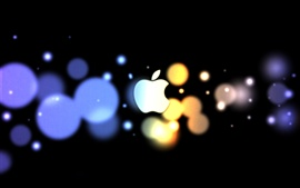 Preview wallpaper Apple Blue Orange circle