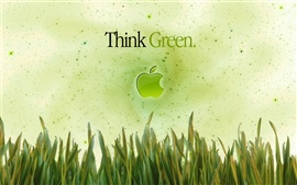 Preview wallpaper Apple Think Green