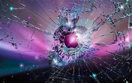 Preview wallpaper Apple broken screen background