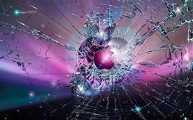 预览壁纸 碎屏背景苹果